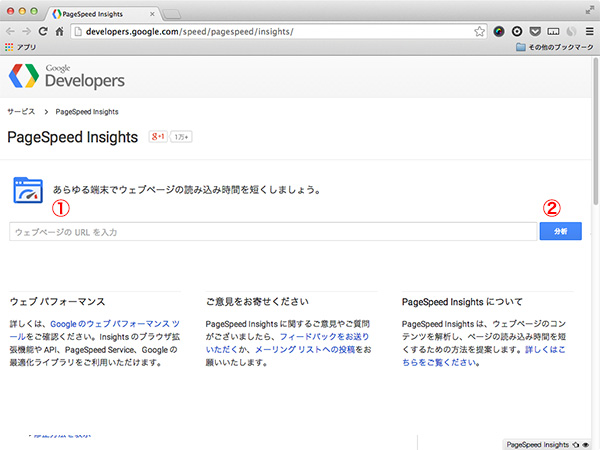 PageSpeed Insightsキャプチャ